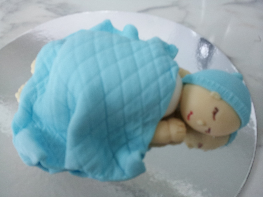 Sleeping Baby Cake Topper For Baby Shower Cakes  on Cake Central