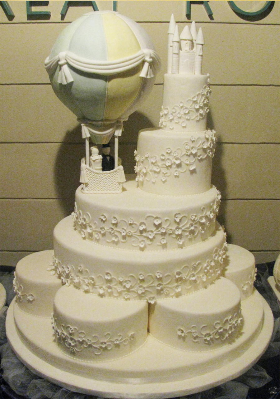 hot wedding cakes air balloon wedding cake cakecentral 15343