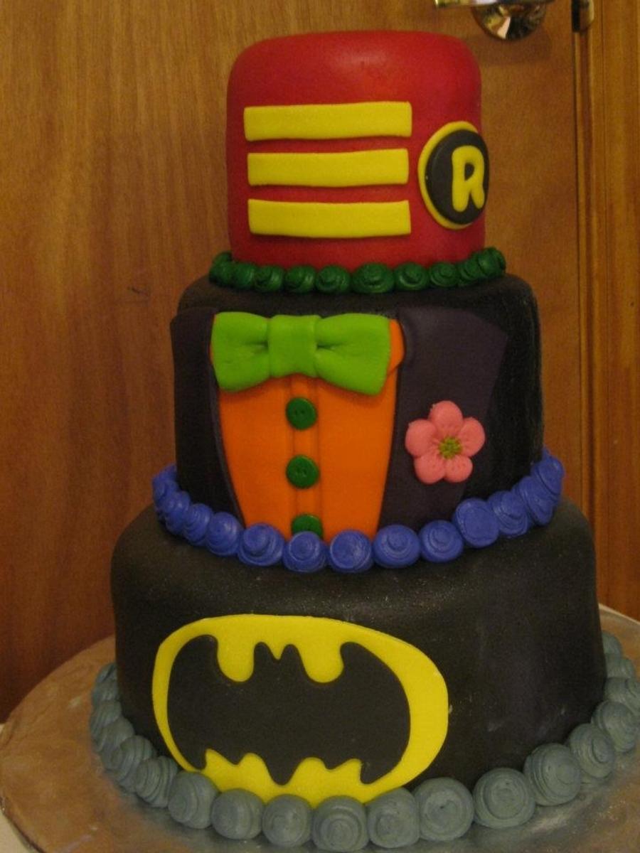 Batman Joker Robin Birthday Cake Cakecentral