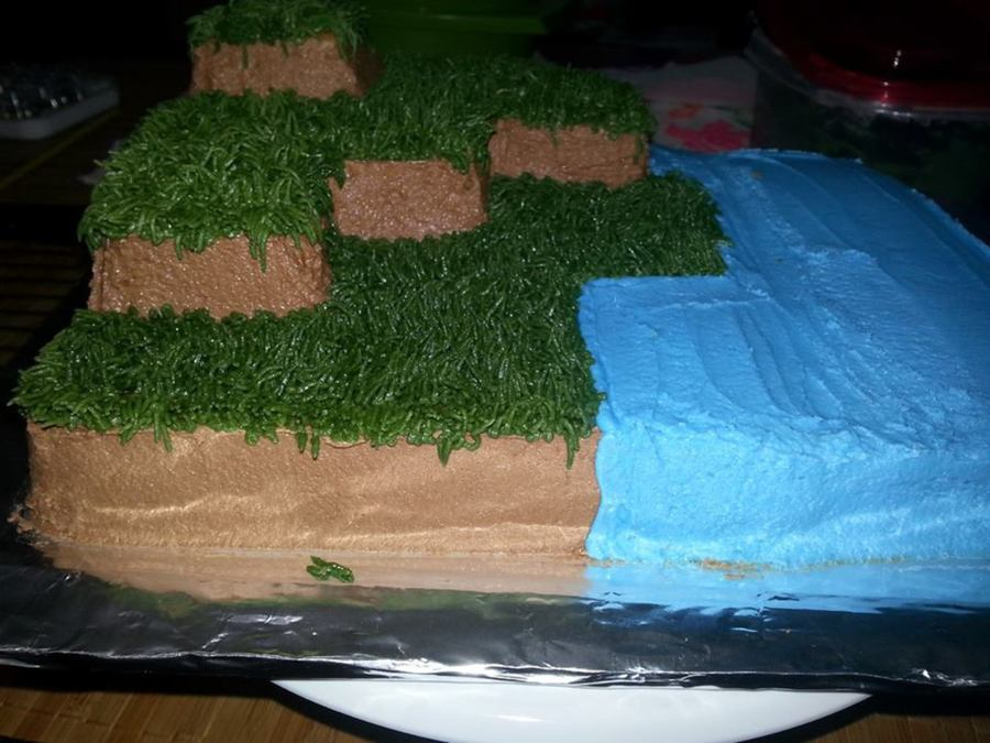 Mine Craft Cake on Cake Central
