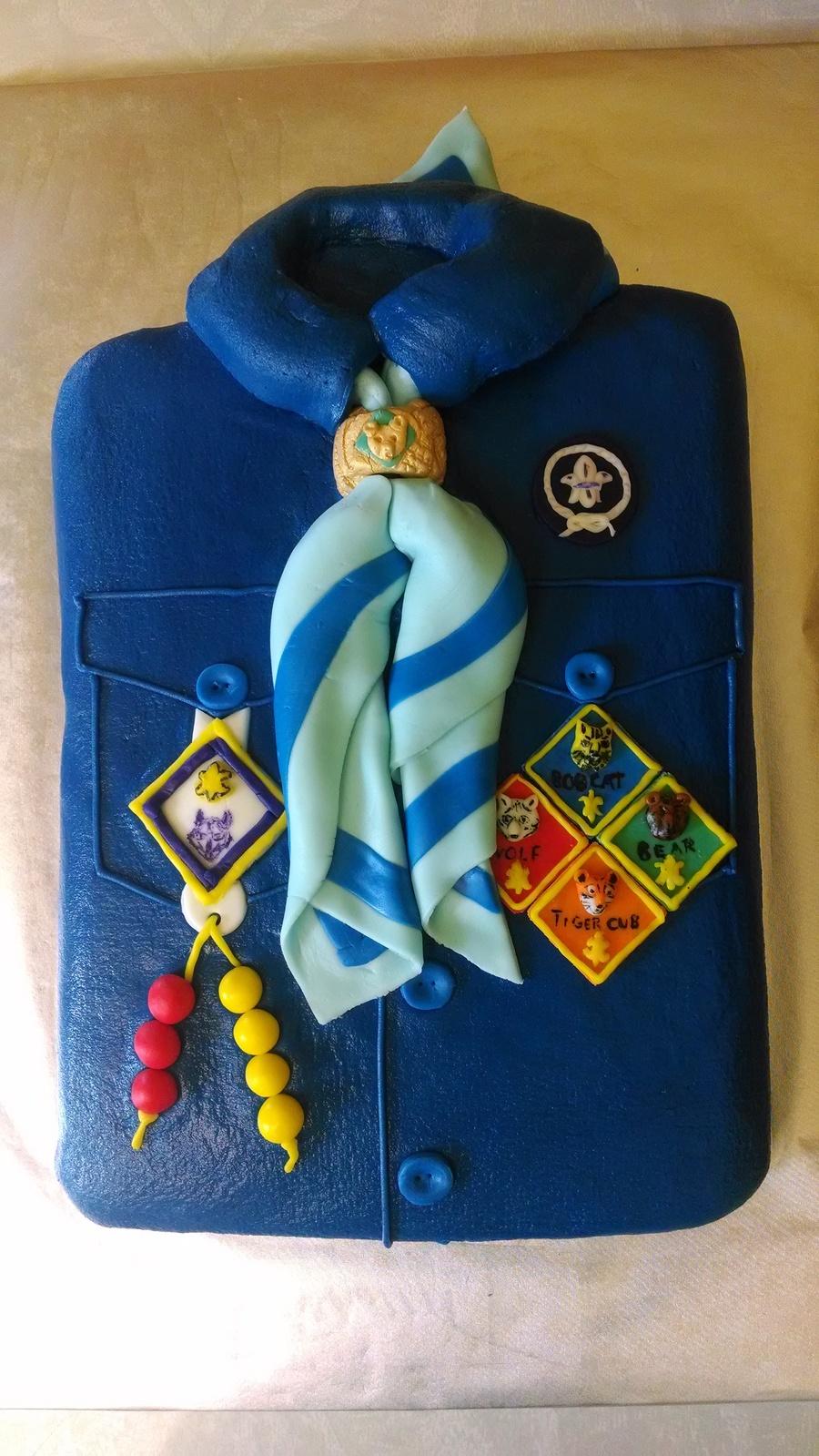Cub Scout Shirt Cake Cakecentral Com