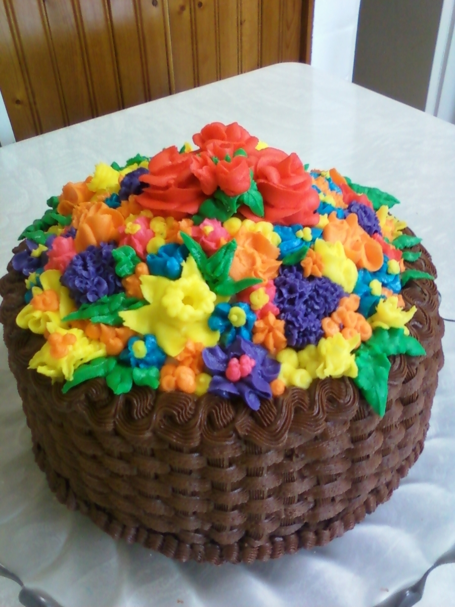 Chocolate Basket Of Flowers Cakecentral