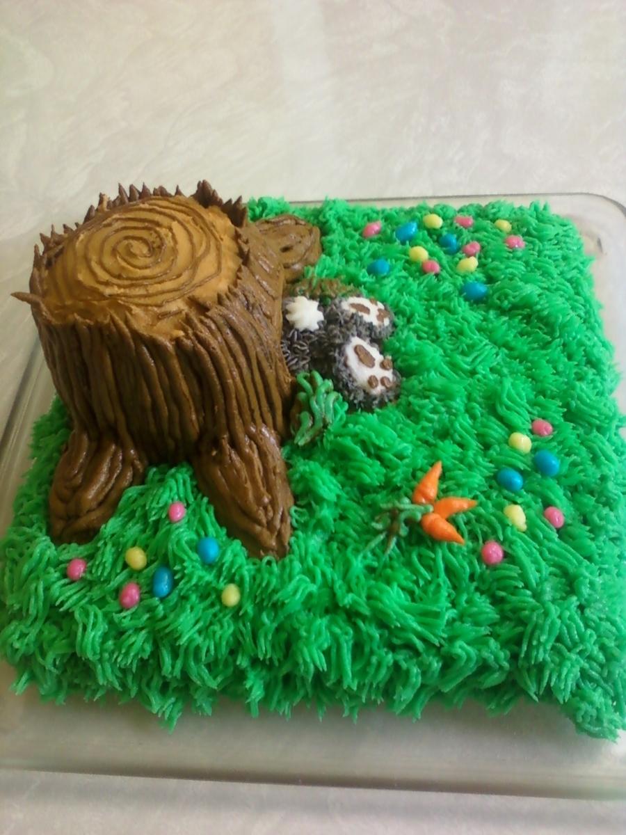 Tree Stump Bunny Hole 2011 Cakecentral Com