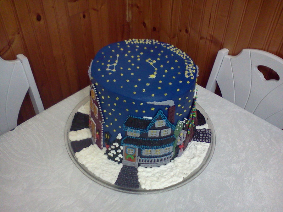 Written In The Stars Christmas Cake Cakecentral Com