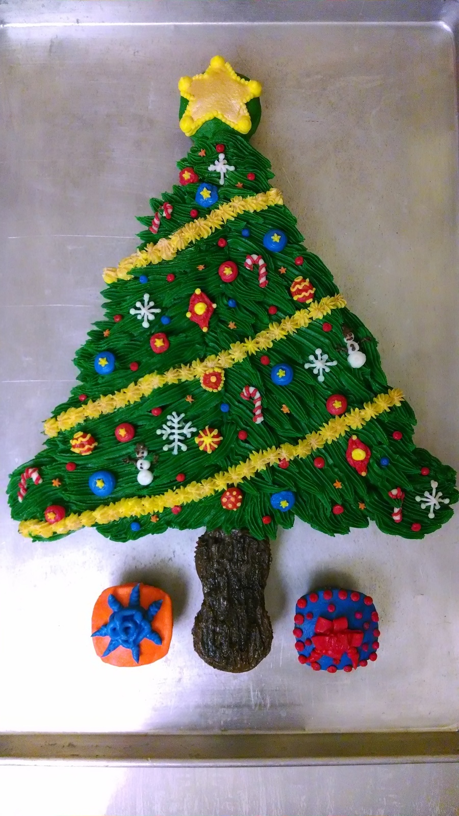 Christmas Tree Pullapart Cake 2013 Cakecentral Com