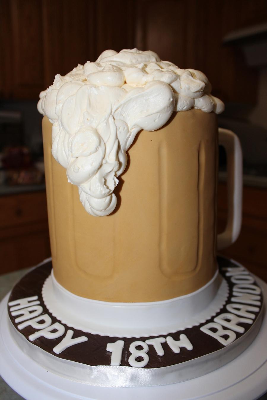 Beer Mug Cake Cakecentral Com