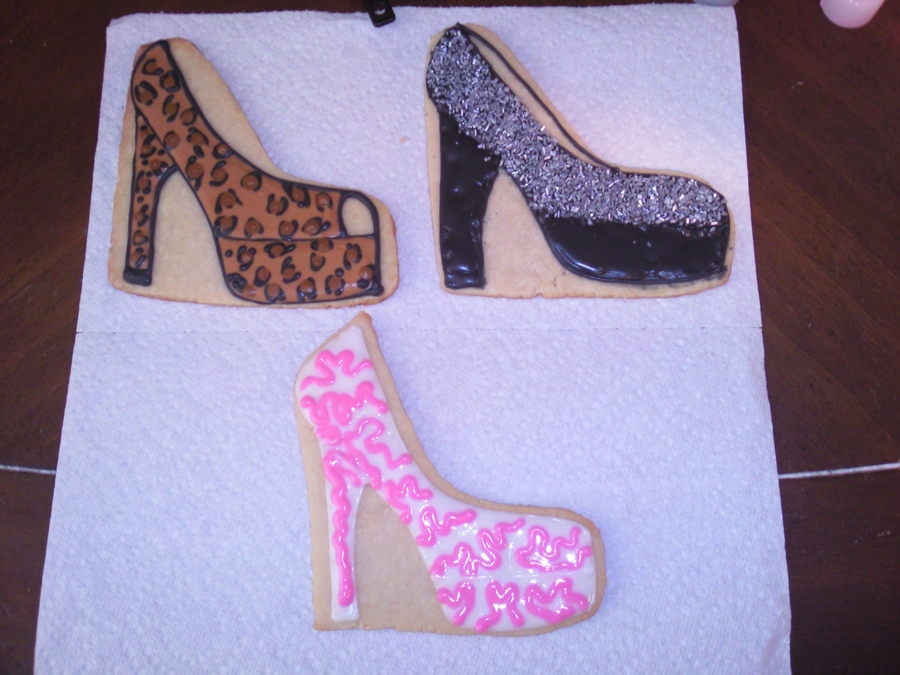 Leopard High Heel on Cake Central
