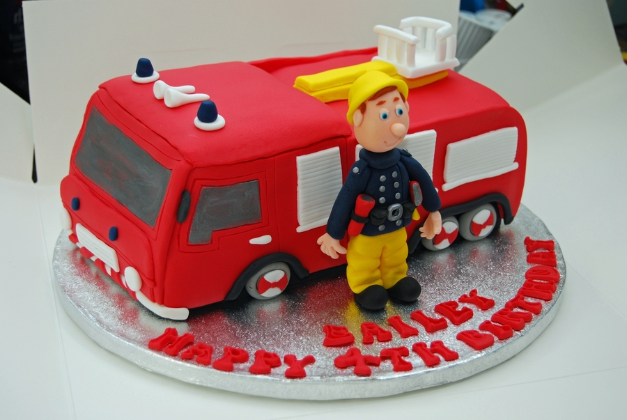 Awe Inspiring Fireman Sam Birthday Cake Cakecentral Com Funny Birthday Cards Online Elaedamsfinfo