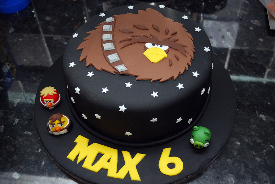 Angry Birds Star Wars Cake For My Little Boys Birthday It Has His Favourite Bird On The Top on Cake Central