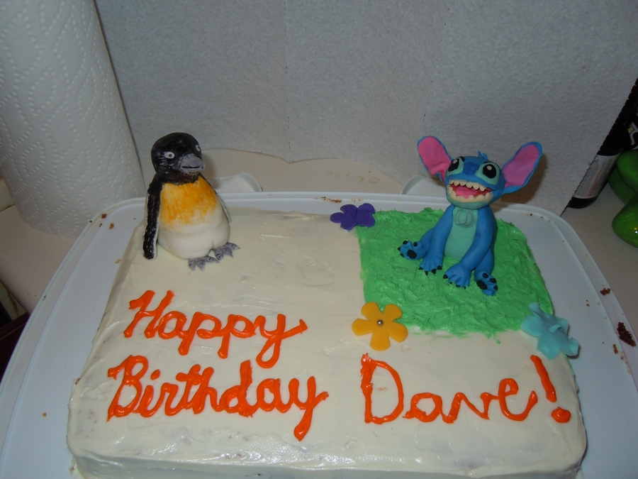 Peguin And Stitch on Cake Central