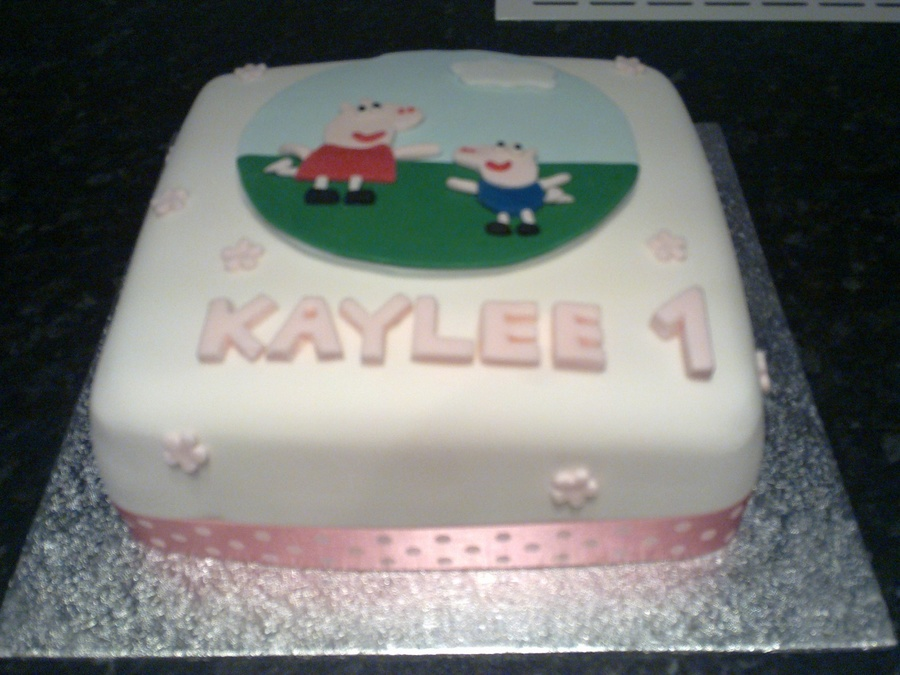 Peppa Pig 1St Birthday Cake  on Cake Central