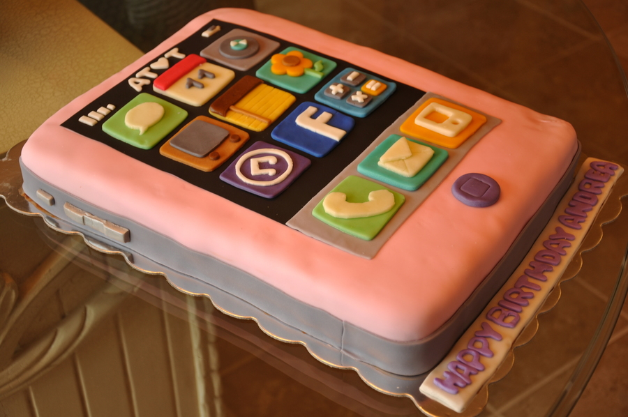Pink Iphone Cake CakeCentralcom