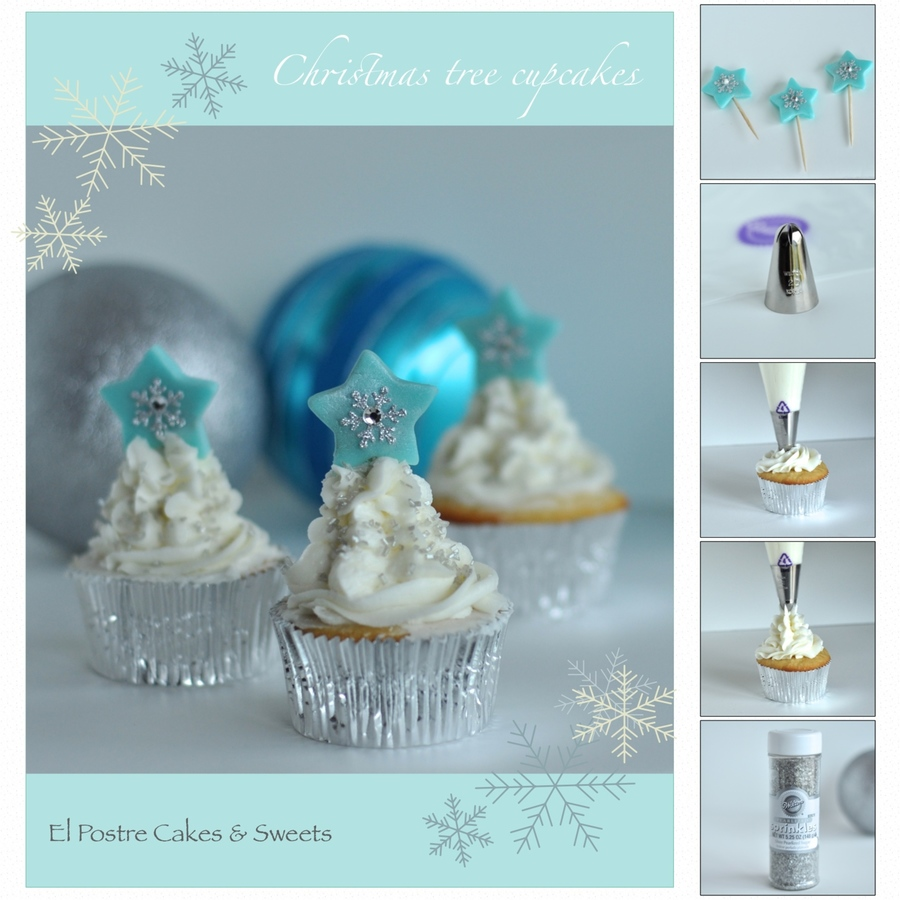 An Easy Fun Way To Decorate Your Cupcakes With Buttercream Christmas Trees Full Step By Step Instructions Can Be Found On My Facebook Page... on Cake Central
