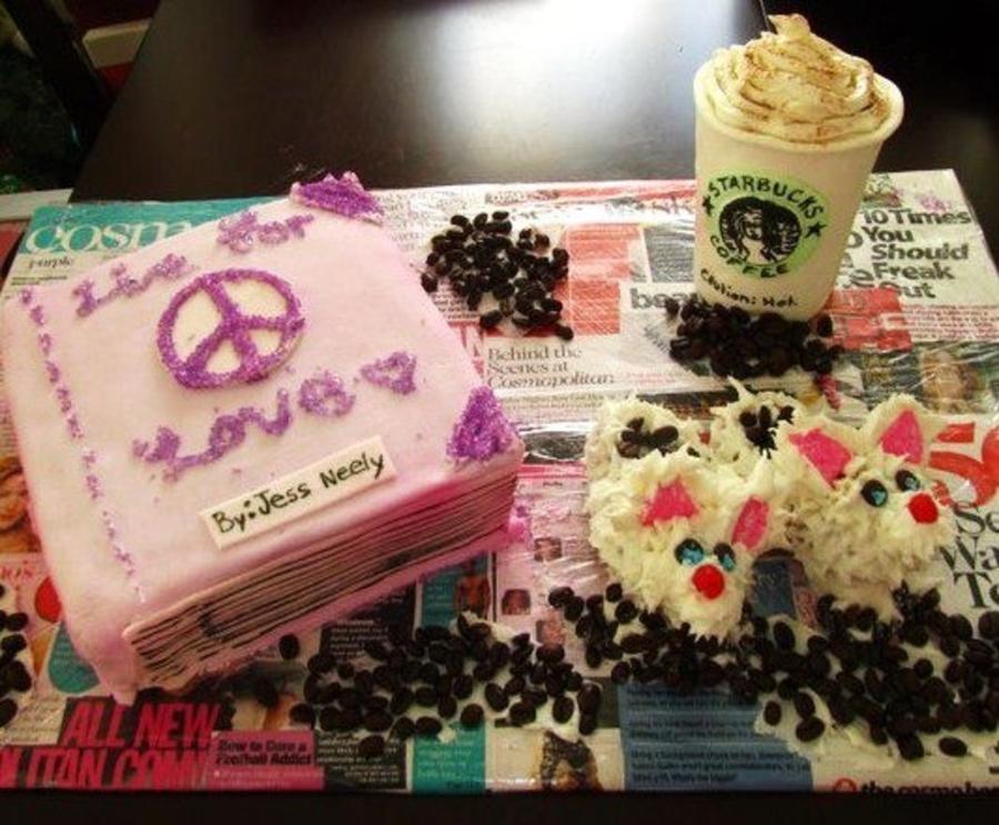 Sensational Starbucks Book Birthday Cake Cakecentral Com Funny Birthday Cards Online Unhofree Goldxyz