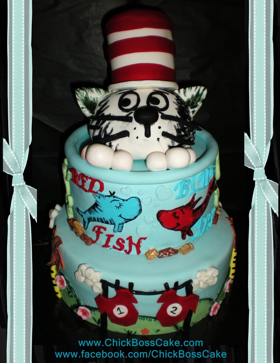 Dr Seuss Birthday Cake on Cake Central