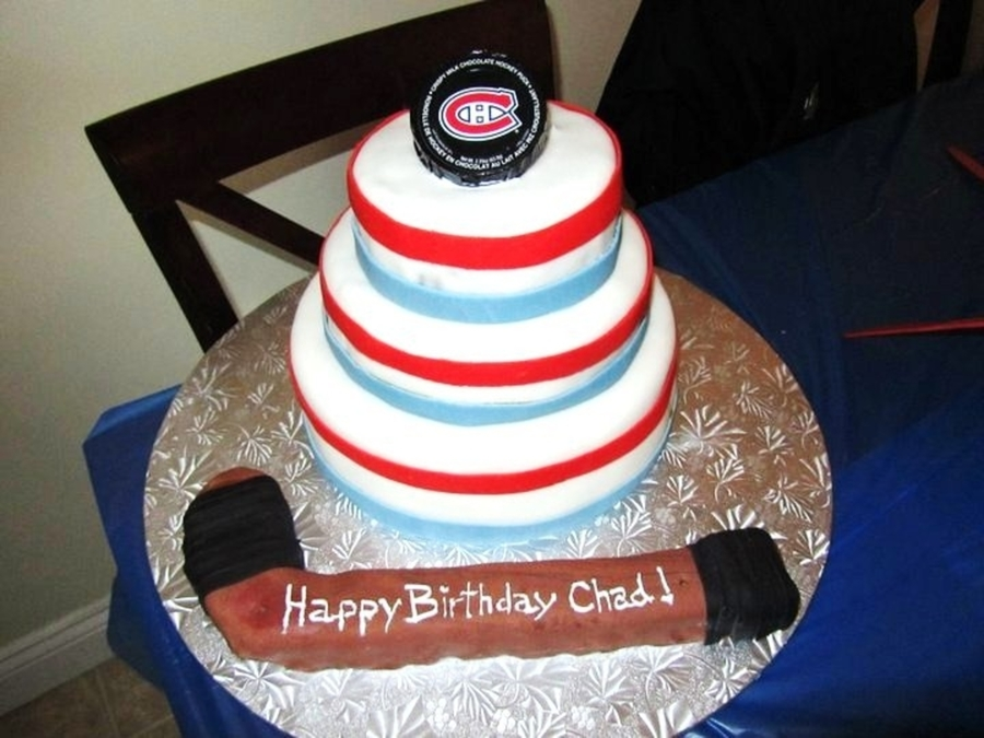 Hockey Birthday Cake CakeCentralcom