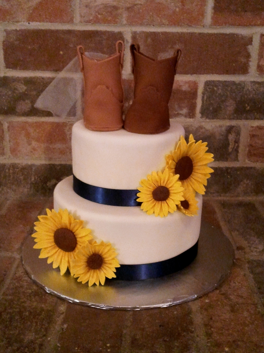 Country Style Bridal Cake on Cake Central