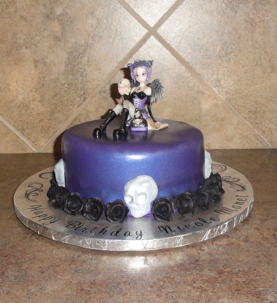 Awe Inspiring Gothic Fairy Birthday Cake Cakecentral Com Personalised Birthday Cards Sponlily Jamesorg