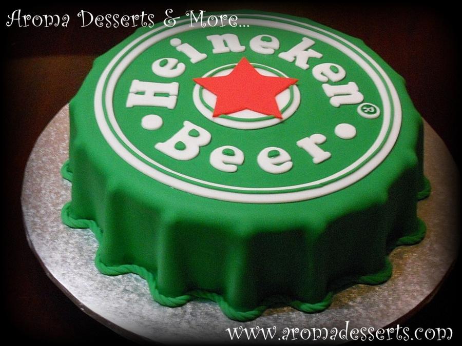 Heineken Birthday Cake
