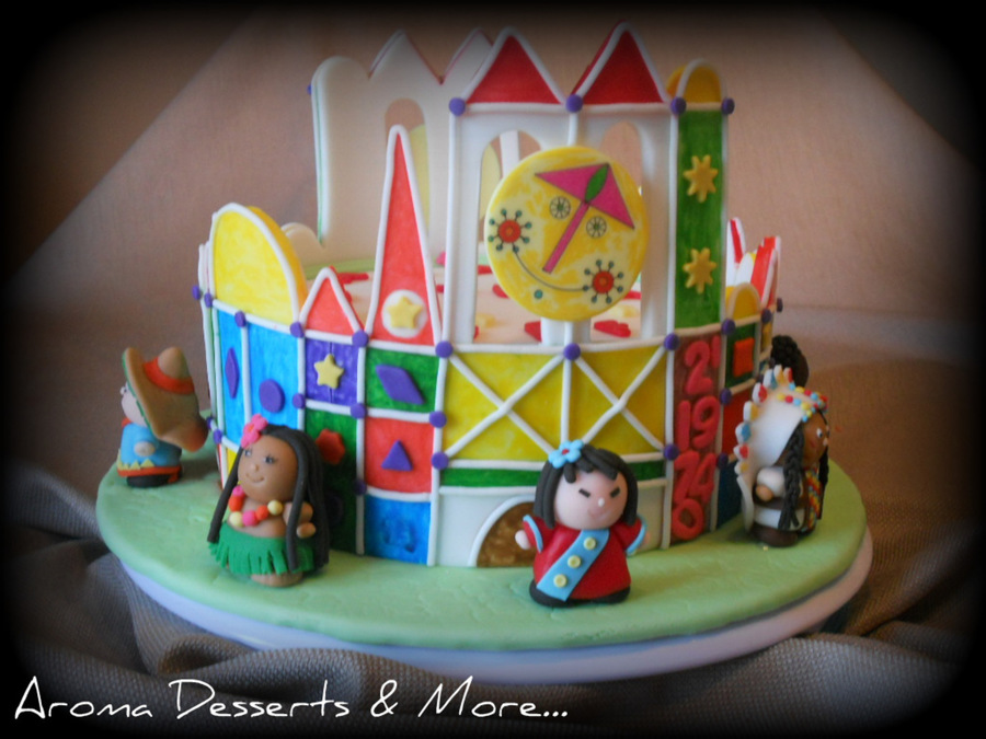 Its A Small World Cake  Cupcakes CakeCentralcom - World birthday cake