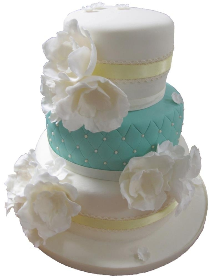 Wedding Cake - White Flowers on Cake Central