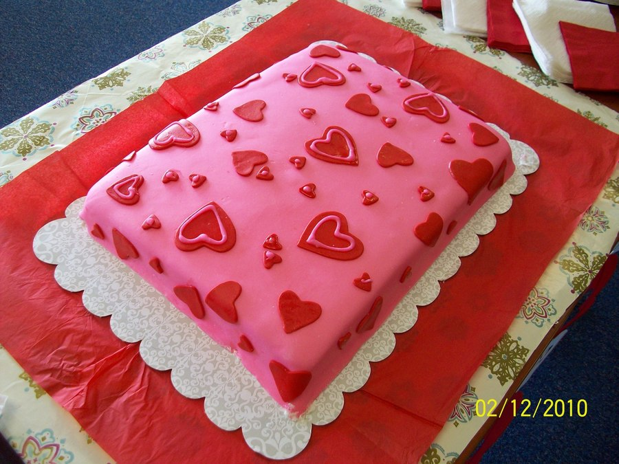 Valentines Day Office Cake on Cake Central
