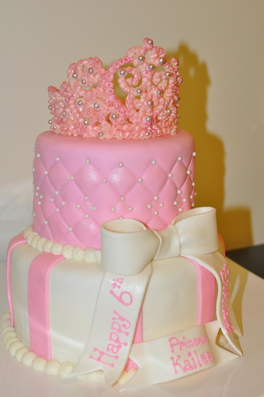 Marvelous Tiara Princess Cakecentral Com Funny Birthday Cards Online Unhofree Goldxyz