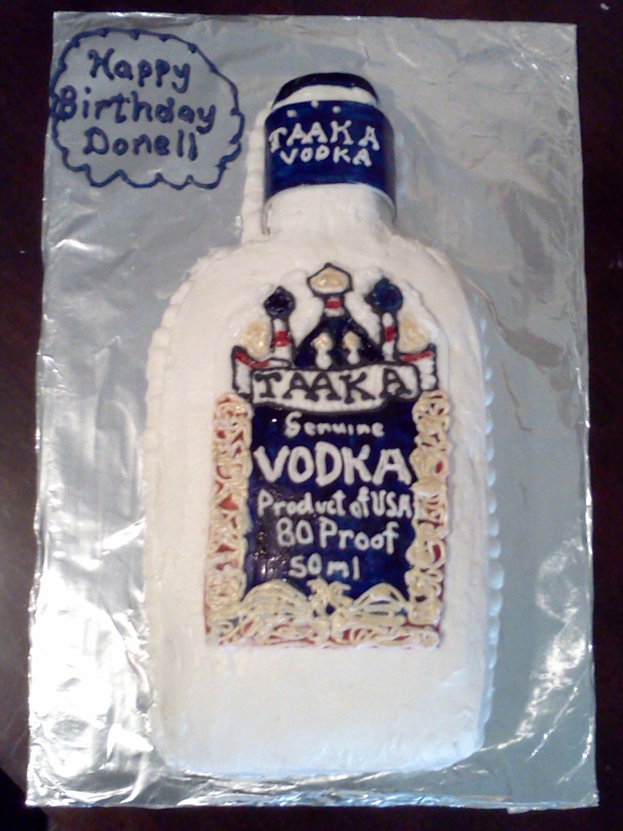Brilliant Taaka Vodka Cake Cakecentral Com Personalised Birthday Cards Cominlily Jamesorg