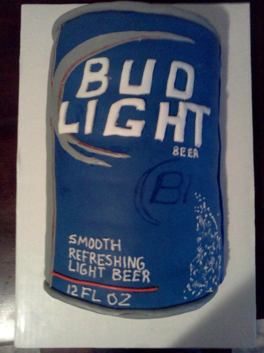Bud Light Can Cake Tutorial