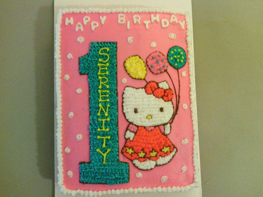 Hello Kitty 1St Birthday Cake on Cake Central