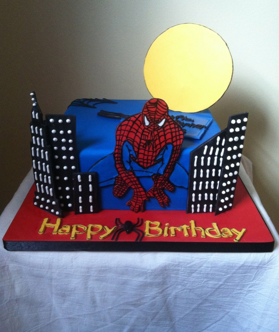 Spidey!!!  on Cake Central