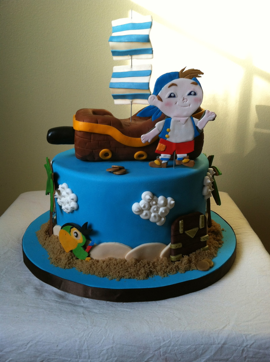 Jake And The Neverland Pirates Cake. on Cake Central