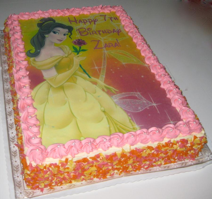 Beauty And The Beast Birthday Sheet Cake