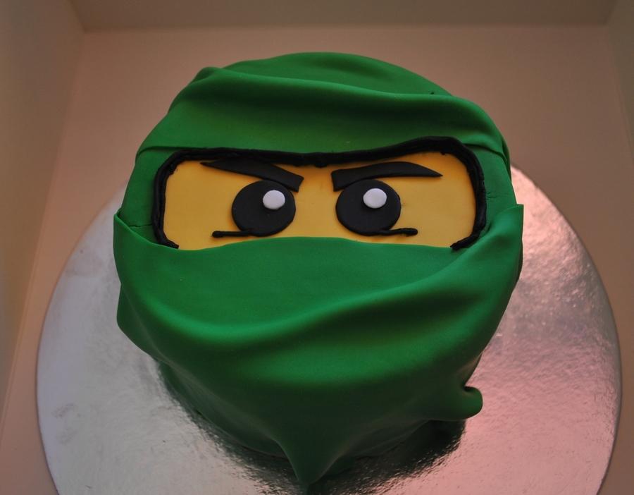 The Green Ninja Lego Ninjago Cake CakeCentralcom