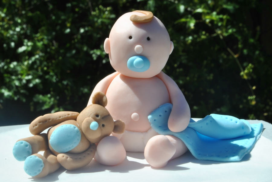 Baby Boy/ Baby Shower Cake Topper - CakeCentral.com