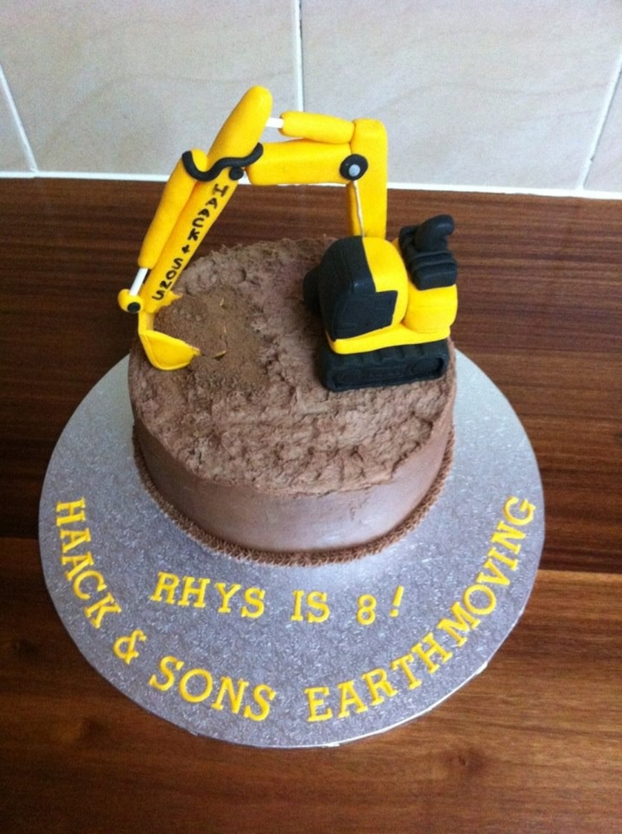 Excavator Cake  on Cake Central