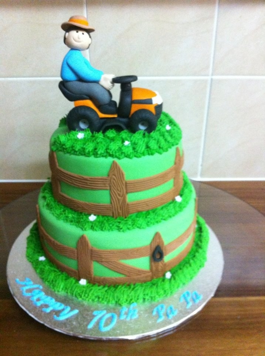 Mower Man Bday Cake on Cake Central