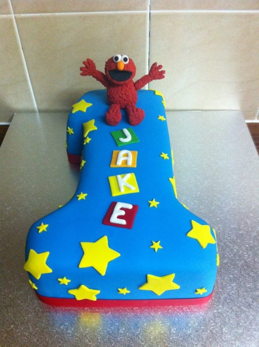 Elmo Number 1 Cake on Cake Central