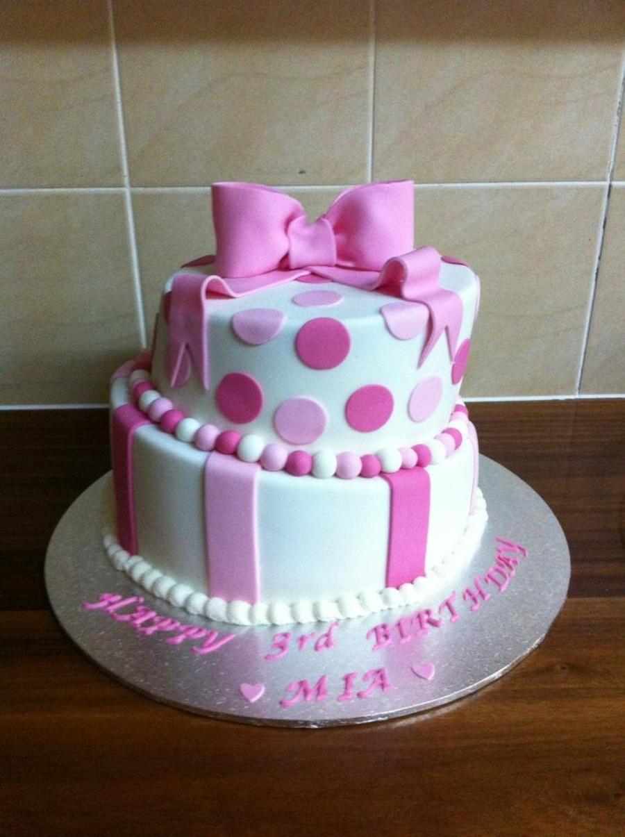 Pink And White Topsy Turvy on Cake Central