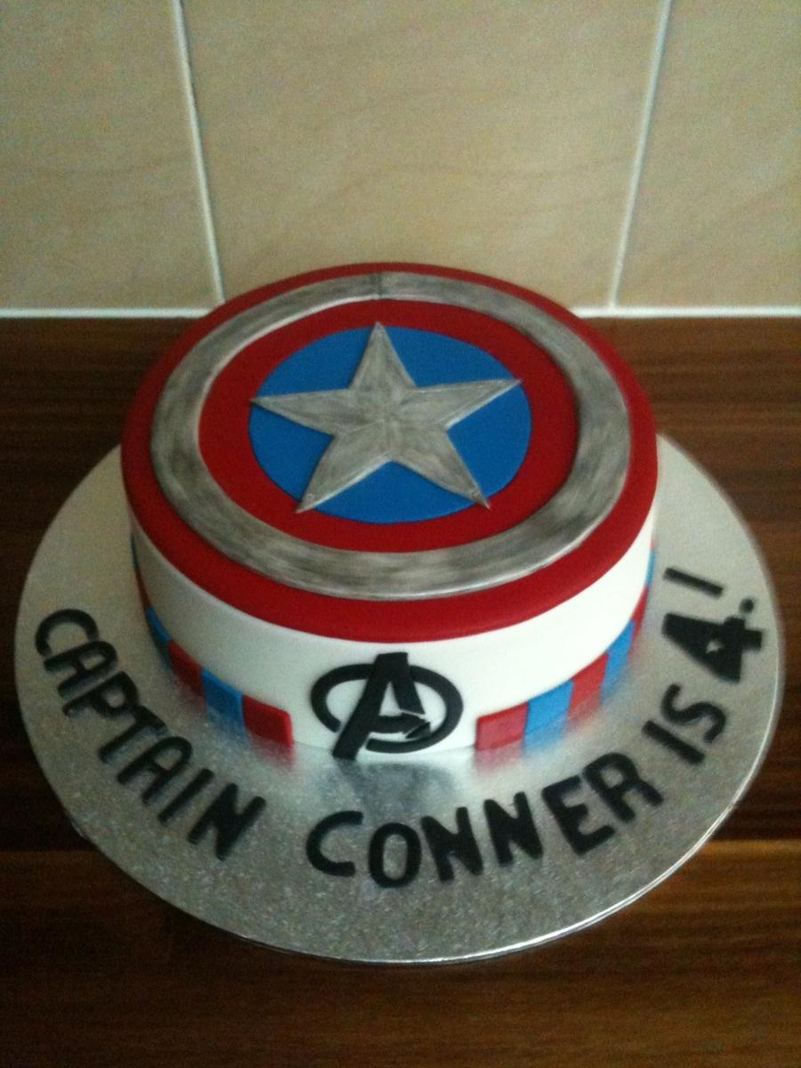 Captain America Cake Cakecentral Com