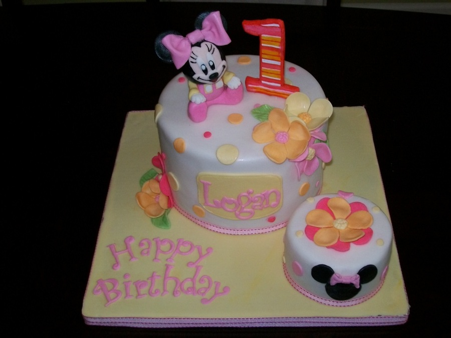 Baby Minnie 1St Birthday on Cake Central