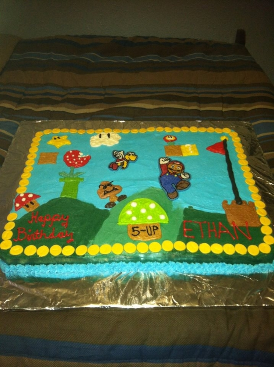 Super Mario Bros Birthday Cake Cakecentral