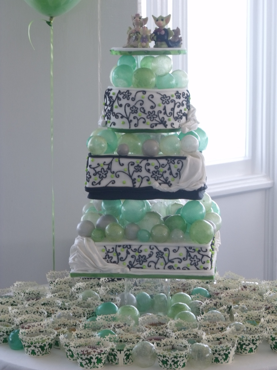 bubble wedding cake. Black Bedroom Furniture Sets. Home Design Ideas
