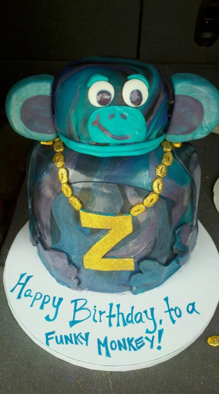 Funky Monkey Cake on Cake Central