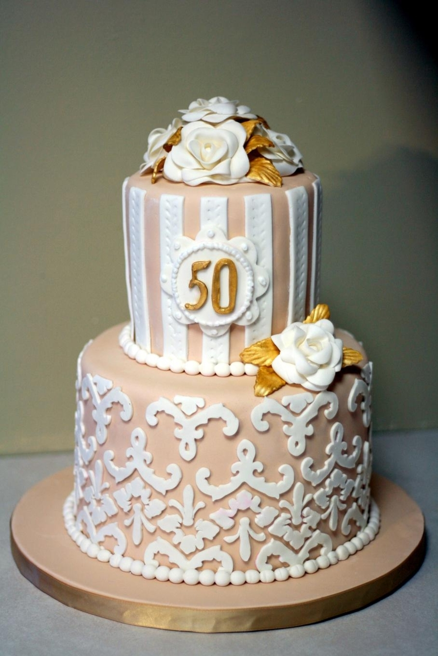 Damask 50Th Anniversary on Cake Central
