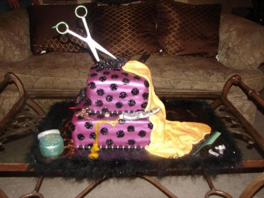21st Birthday Hairstylist Cake Cakecentral Com