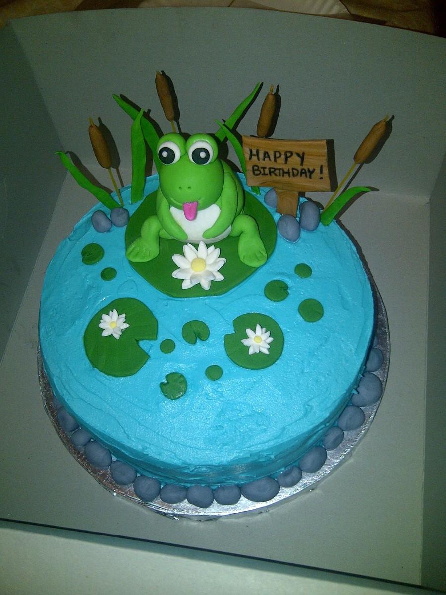 Frog Pond Birthday Cake Cakecentral Com