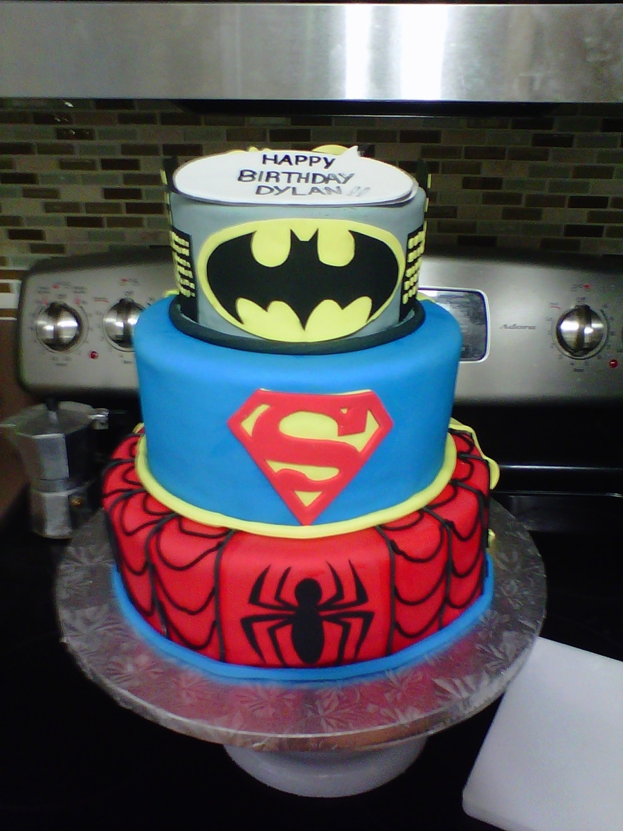 Superheroes Cake on Cake Central