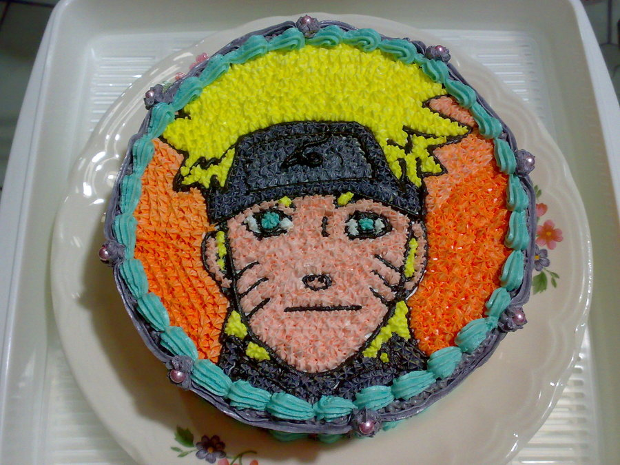 Outstanding Rics Naruto Birthday Cake Cakecentral Com Personalised Birthday Cards Sponlily Jamesorg