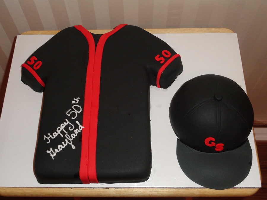 Baseball Cap And Jersey on Cake Central